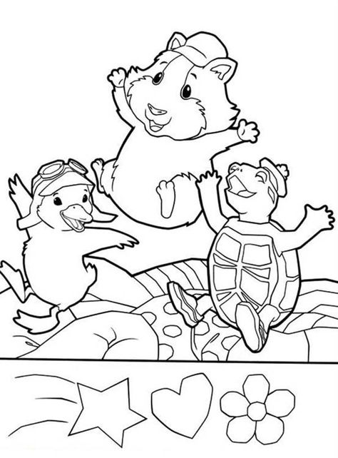 Ming Ming Turtle Tuck And Linny Jump Around In Wonder Pets Coloring Page Coloring Sun In 2020 Wonder Pets Puppy Coloring Pages Coloring Pages