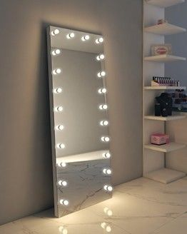 Alexandria Full Length Hollywood Mirror Floor Mirror With Lights Long Mirror With Lights Hollywood Mirror