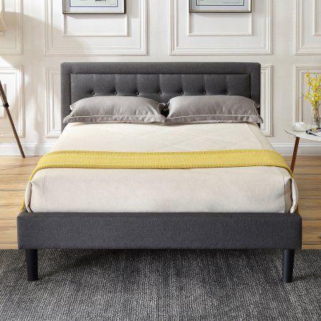 Modern Sleep Mornington Upholstered Platform Bed Headboard And