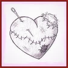 Resultado De Imagen Para Dibujo De Corazones Rotos Corazon Roto