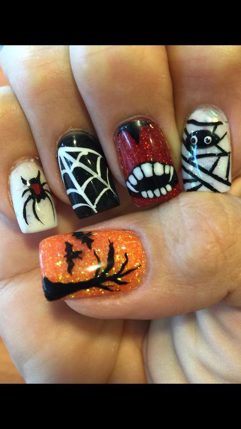 Halloween Acrylic Nail Design