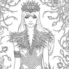 A Court Of Thorns And Roses Coloring Book A Court Of With Images