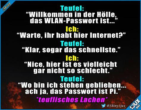 Noch schlimmer als gedacht #Teufel #Hölle #Passwort #Witz #Witze #Jodel #schwarzerHumor