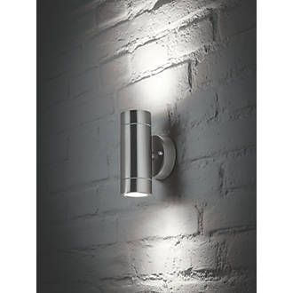 buy popular 0f369 9ede0 LAP Bronx Outdoor Up & Down Wall Light Stainless Steel ...