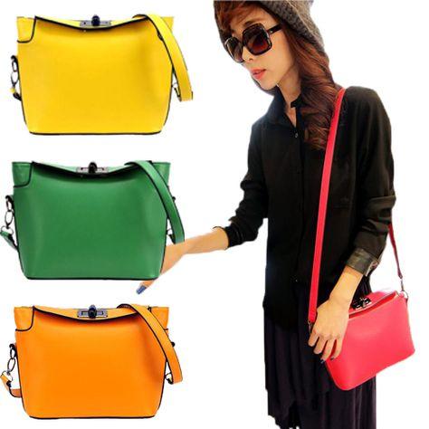 Elegant Woman Faux Leather Shoulder Messenger Cross Body Handbag SG2288 -- BuyinCoins.com