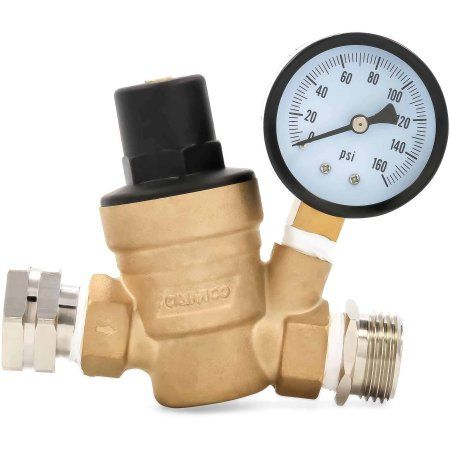Camco 40058 Adjustable Water Pressure Regulator Lead Free Bilingual Brass Walmart Com Camco Rv Water Rv Parts And Accessories