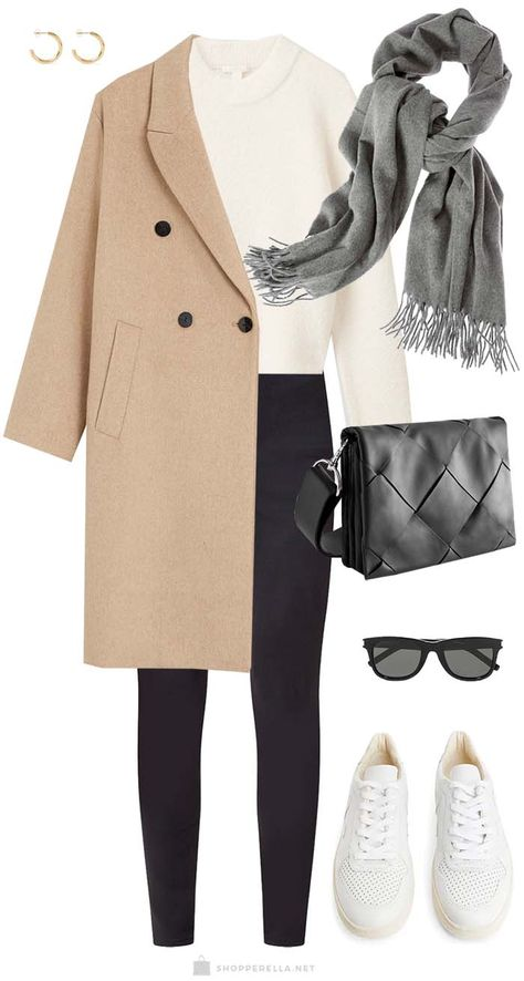 Winter layers outfit of the day