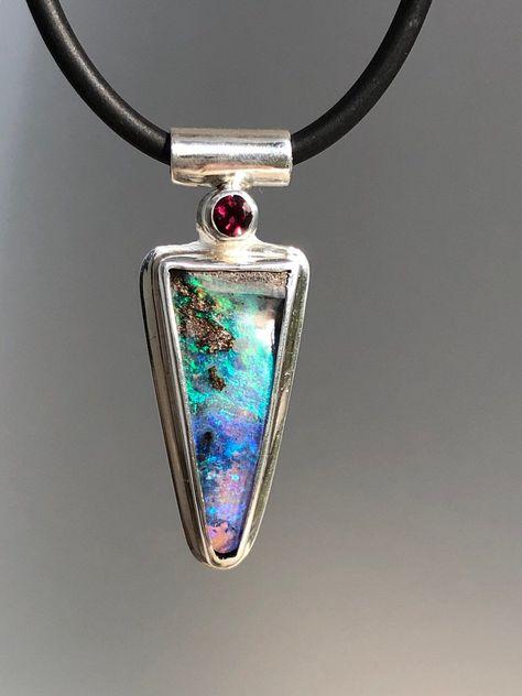 Natural Ethiopian Welo Fire Opal Black Opal Beaded Necklace-Ethiopian Opal Arty-Black Opal Beads-Handmade Necklace