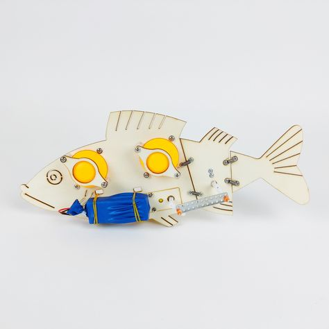Projects included: Robot Fish Ages: 8+ Project Line: Engineering Biologically Inspired Engineering or Bionics is the application of biological methods and systems found in nature to the study and design of engineering systems and modern technology. Examples of bionics in engineering include the hulls of boats imitating the thick skin of dolphins, sonar, radar, and medical ultrasound imaging imitating animal echolocation. Velcro is the most famous example of bionics. In 1948, the Swiss engineer G
