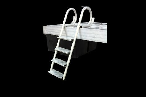 4 and 5 Step Ladders: Our standard dock ladder has oversized rungs for sturdy footing to provide a safe, secure and comfortable access point for exiting or entering the water. And no other ladder available is as durable nor is as finished looking to complement any quality dock. Clean Up: Each style rotates out of the water when not in use to remain clean
