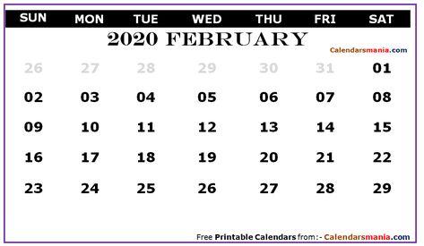 Calendar 2020 February Pinterest Pinterest