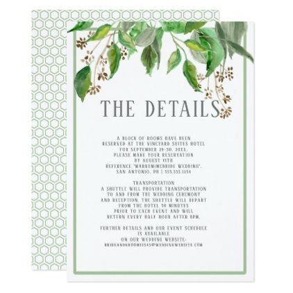 Details Simple Modern Foliage Hexagon Geometric Enclosure Card Zazzle Com Geometric Wedding Invitation Simple Wedding Invitations Wedding Invitation Cards