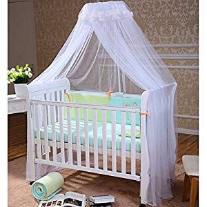 Kids Crib Mesh Mosquito Canopy White, Grey or Pink colors