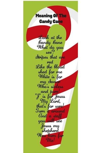 Meaning Of The Candy Cane Bookmarks come in pack of 24. Each one is 6
