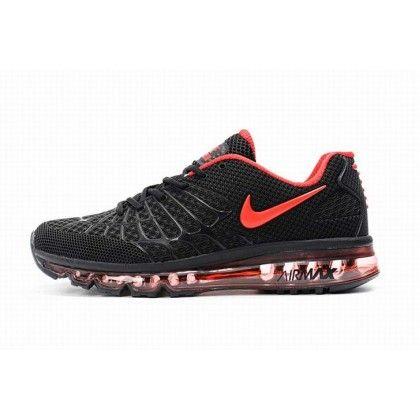Mann Nike Air Max 120 Zufällig Schwarz Rot Authentische