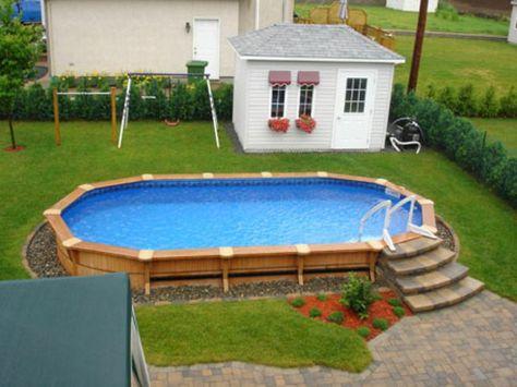 construire sa piscine extérieure avec une terrasse en bois composite - fabriquer sa piscine en bois