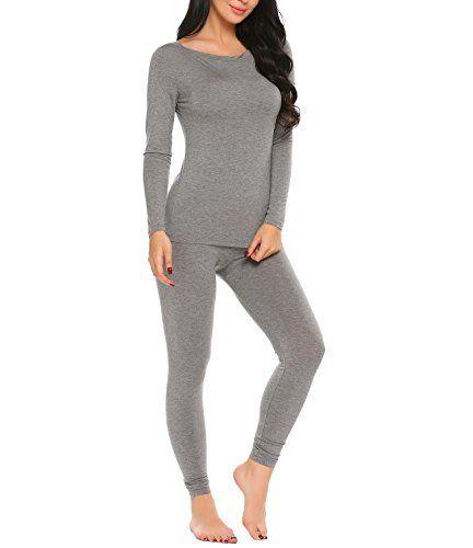 Website für Rabatt Wählen Sie für neueste 100% Qualität AIMADO Damen Thermounterwäsche Set O-Neck Baumwolle Warm ...