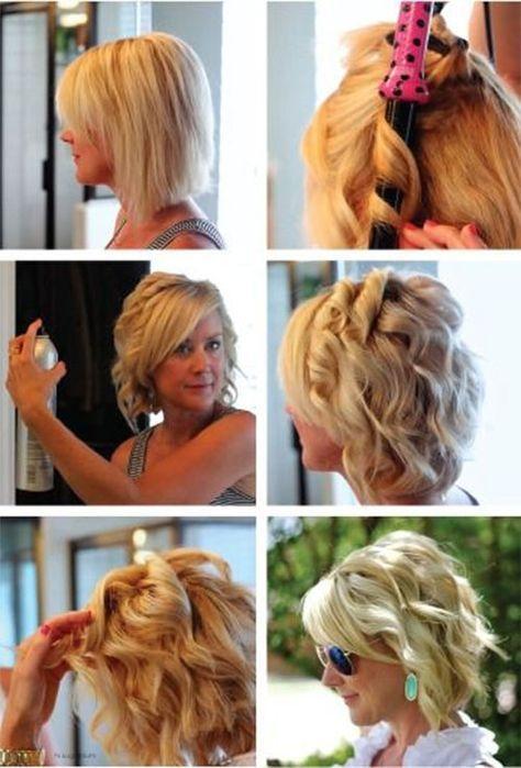Curl Short Hair Curling Iron Tutorials How To Hacks How To Curl Short Hair How To Curl Your Hair Short Hair Styles