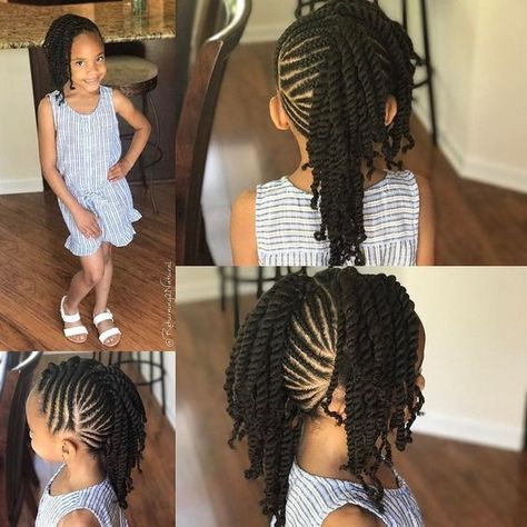 12 Easy Winter Protective Natural Hairstyles For Kids African