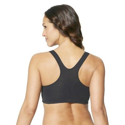 320a599135 Hanes Women s ComfortFlex Fit Stretch Cotton Sport Bra H570 2-Pack -  White Black M