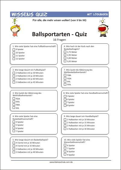 Fragen quiz allgemein Allgemeines Quiz