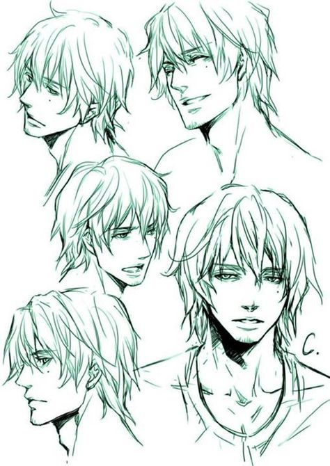 Super Drawing Anime Faces Male Character Sketches 43 Ideas Manga Hair Guy Drawing Male Face Drawing