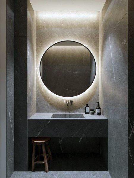 Top 50 Best Bathroom Mirror Ideas Reflective Interior Designs In 2020 Bathroom Mirror Makeover Bathroom Design Inspiration Modern Bathroom