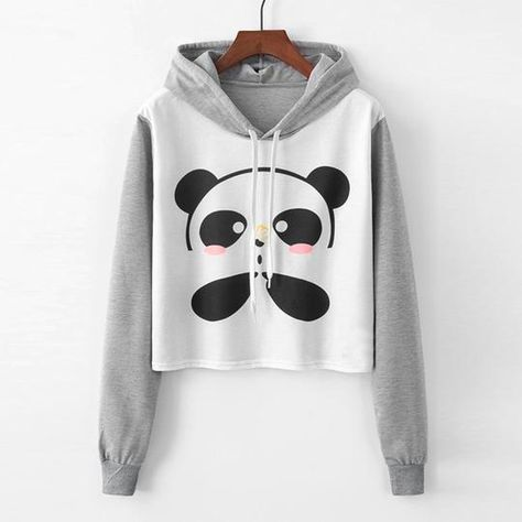 Check Out Our Brand New Designs For These PANDA Crop Top Hoodies! Made from High Quality material to ensure long lasting Wear! Get yours today for only (This Week Only) FREE delivery On All Orders Link in BIO