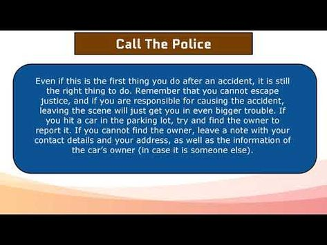 How to Report a Car Accident to The Police In California?