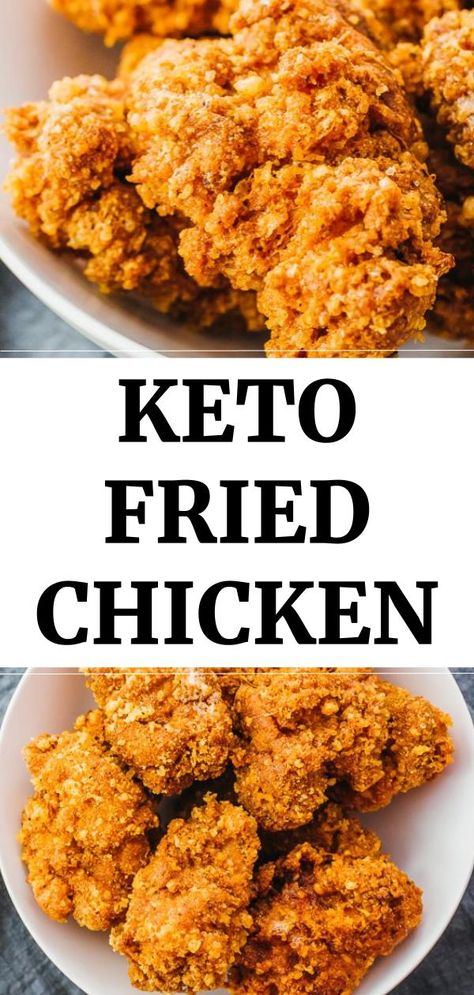 Healthy keto fried chicken that's crispy and crunchy, made with boneless thigh meat breaded in almond flour and parmesan cheese. Low carb and gluten free. Keto Dinner Recipes for Rapid Weight Loss Keto Fried Chicken, Making Fried Chicken, Low Carb Chicken Recipes, Gluten Free Chicken, Meat Recipes, Healthy Recipes, Copycat Recipes, Free Recipes, Keto Chicken Thighs