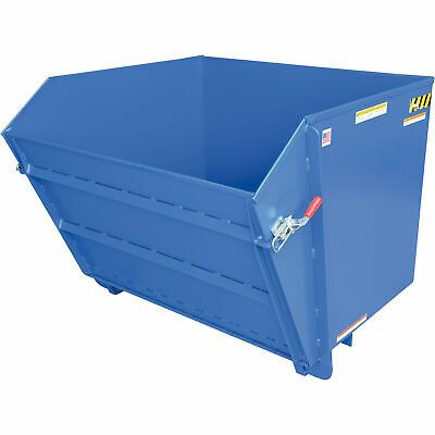 Details About Vestil Low Profile Med Duty Self Dumping Steel Hopper 1 4 Cu Yd Volume 4klb Cap In 2020 Vestil Steel Drum Storage