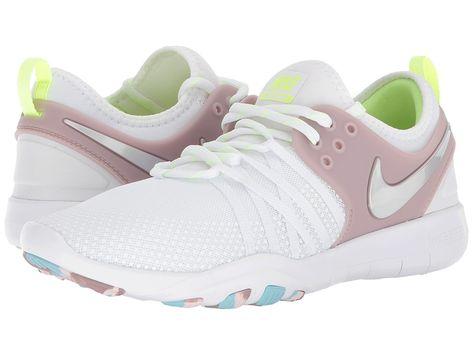 08f4b4dcb67f Nike Free TR 7 (White Metallic Silver Elemental Rose) Women s Cross Training  Shoes  shoes