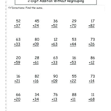 2nd Grade Math Worksheets Math Worksheets Basic Math Basic Math Worksheets