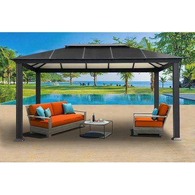 Sierra 11 Ft W X 16 Ft D Aluminum Patio Gazebo Patio Gazebo Aluminum Gazebo Gazebo