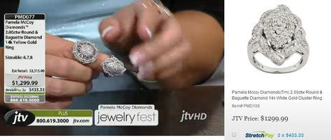 Two of the Pamela McCoy 14K Rings featured on JTV website! Make sure to check out the StretchPays!