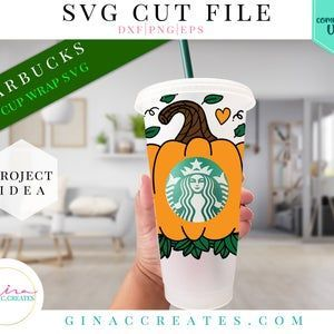 Pumpkin Circle Svg Fall Leaves Starbucks Circle Svg Etsy In 2020 Svg Autumn Leaves Cup Wrap