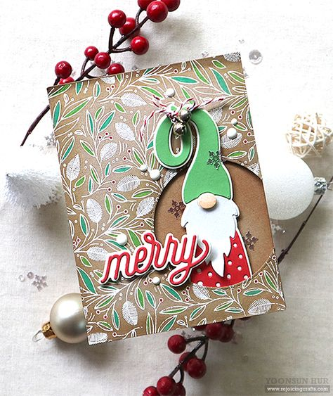 Today I have a couple of fun Christmas cards with the SSS Gnome die. Christmas Gnome, Christmas Cards To Make, Xmas Cards, Handmade Christmas, Holiday Cards, Christmas Crafts, Christmas Paper, Grandpa Birthday Gifts, Mom Birthday Crafts