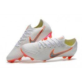 Nike World Cup 2018 Mercurial Vapor Xii Fg Boots White Orange Scarpe Da Calcio Calcio Scarpe