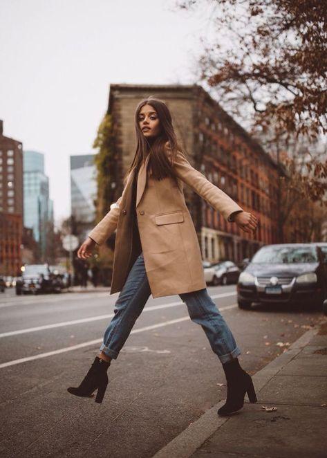 jacky brown イ allure style street urban fashion mode beige camel marron fall a… - Fall looks - Winter Mode