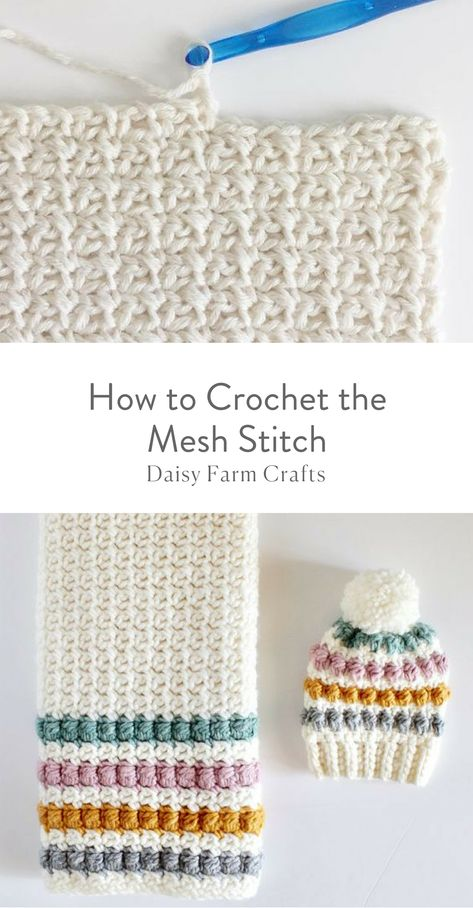 40 free crochet stitches from daisy farm crafts crafts crochet daisy farm free stitches Learn how to crochet the knit stitch successfully in this step-by-step video tutorial. The knit stitch (AKA the waistcoat or center single crochet stitch) can be trick Bonnet Crochet, Crochet Daisy, Crochet Beanie, Free Crochet, Knit Crochet, Crochet Basics, Crochet For Beginners, Crochet Crafts, Crochet Projects
