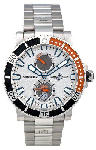 Ulysse Nardin Men's 263-90-7M/91 Maxi Marine Diver Titanium Silver Dial Watch by Ulysse Nardin, http://www.amazon.ca/dp/B0032JTGS8/ref=cm_sw_r_pi_dp_9-5Vrb0QHHWEJ