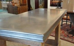 Matte Zinc Bar Top With Decorative Edge Detail Zinc Countertops Countertops Zinc Bar Top