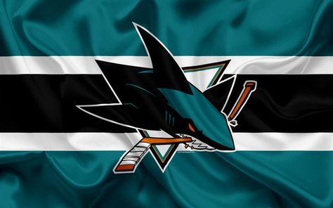 Download wallpapers San Jose Sharks, hockey club, NHL, emblem, logo, National Hockey League, hockey, San Jose, California, USA