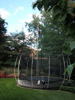 Springfree Trampoline In Hole Google Search Backyardtrampolinelandscapeawesome Backyard Trampoline Backyard Garden Trampoline