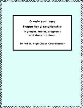 This Product Will Help Students Create Their Own Proportional Relationship In A Graph Table Diagram Proportional Relationships Relationship Student Writing