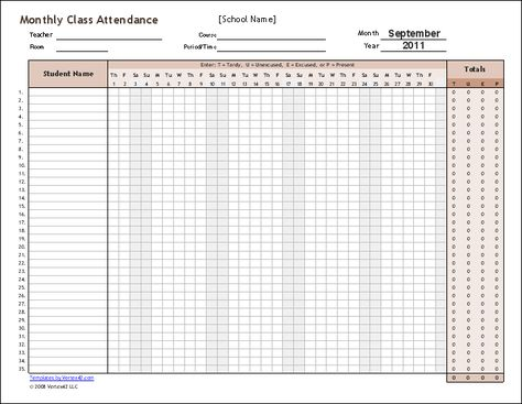 Check out new work on my @Behance portfolio  - attendance sheet for students