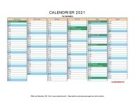 Calendrier Liturgique 2021 Calendrier 2021 à imprimer gratuit en PDF et Excel en 2020