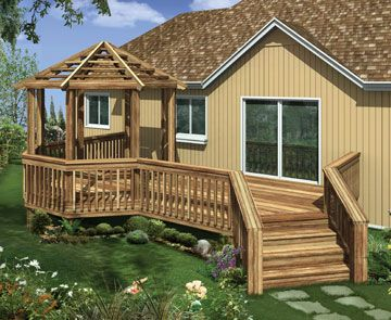 Small Deck With Gazebo On