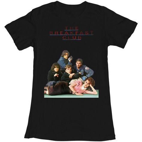 Breakfast Club Poster Black Junior Women/'s T-Shirt