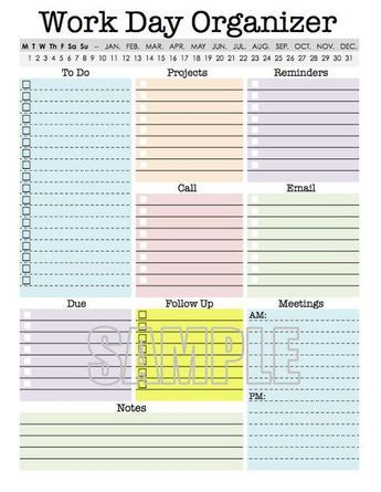 photo regarding Day Organizer known as Perform Working day Organizer - planner site, effort planner, printable